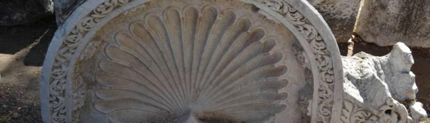 Muschel der Göttin Aphrodite in Aphrodisias, Türkei