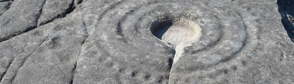 Petroglyphe, Laxe das Rodas, Galizien