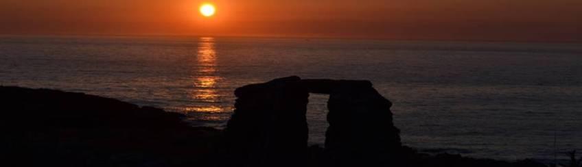 Sonnenuntergang in Galicien am Ende der Welt