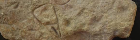 Vulva-Ritzzeichnung Abri Cellier, Tursac, Frankreich