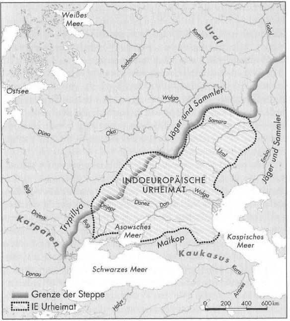 Karte Indoeuropäische Urheimat