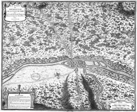 Karte Lutetia