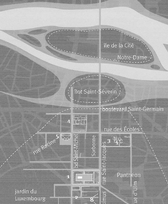 Kartenausschnitt Paris