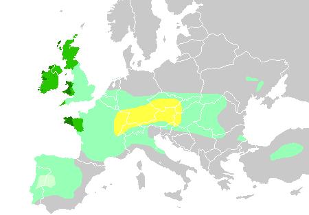 Verbreitung keltischer Völker und Sprachen